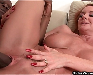 Milf's large pointer sisters receive a cum coating