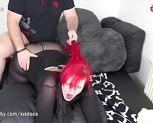 My impure hobby - redhead bbw takes a large schlong
