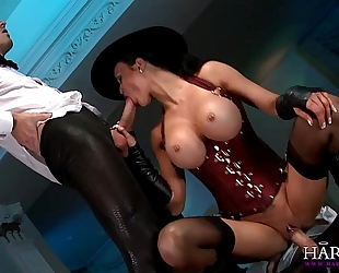 Jasmine jae is in charge and demands a large knob