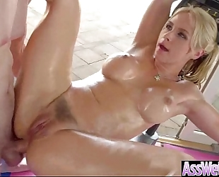 (sarah vandella) floozy white bitch with large wazoo acquire oiled and unfathomable anal sex mov-24