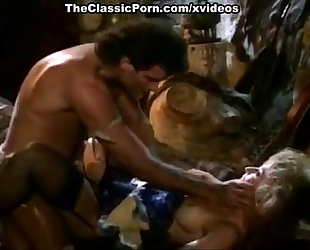 Nina hartley, jon dough in 80's porn episode of a barbarian fucking a blondie