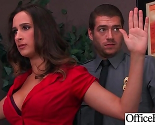 (ashley adams) Married slut with round large milk shakes in hard style sex in office clip-03