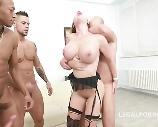 Busty prolapsing milf cathy heaven balls unfathomable dap deepthroat to tunnel vision!