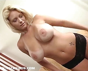 Hot sweetheart charlie fucking a brutal sex toy