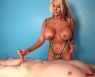 Experienced black cock slut slaver tugjob