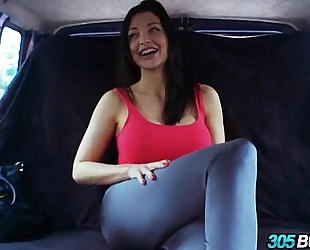 Big titty beauty aletta ocean drilled on the 305bus.1