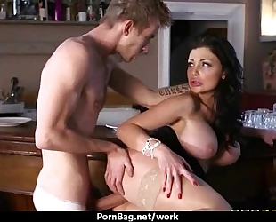 Big titted playgirl receives drilled hard in the office twenty one