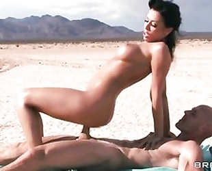 Johnny Sins fucks beautiful brunette in the desert
