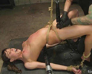 Tattooed master fucks small titted girl in the ass