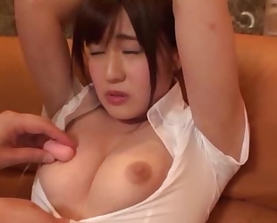 Asian cutie squirts while getting her pussy massaged
