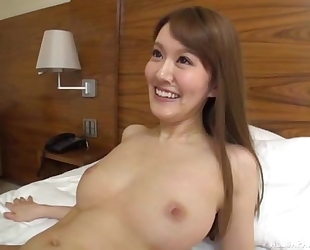 Slim Asian lady sucks and rides lover's hard cock
