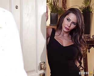 Glamorous porn babe with beautiful tits gets fucked hard