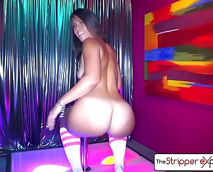 The stripper experience - kelsi monroe is drilled by a large ramrod, large gazoo