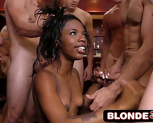 Ebony st.patrick's day base sarah banks engulfing all 12 guys