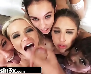 All star sweethearts lineup for wazoo fucking: abella danger, ana foxxx, annika albrite