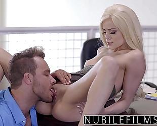 Elsa jean gives boss bawdy oral sex & swallows