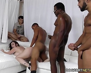 Sara jay acquires ganbanged by dark chaps in front of her son