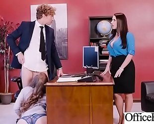 Hot sex in office with large round breasts white women (angela white & lena paul) video-03