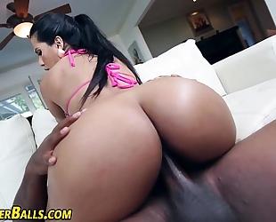 Latina ho copulates dark wang
