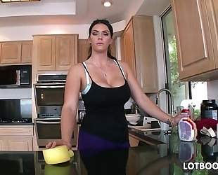 Big gazoo brunette hair breasty maid alison tyler receives drilled