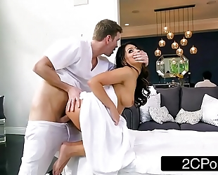 Sneaky horny white wife adriana chechik letting masseuse fuck her in the butt