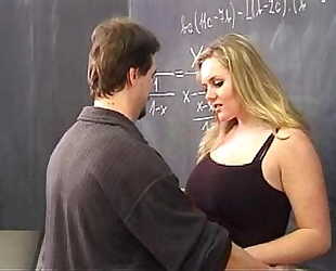 Hot golden-haired drilled by her teacher