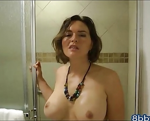 Catching your lustful step sister in the shower - 8bbw.com