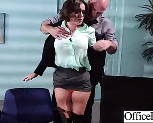 Office breasty cheating wife (krissy lynn) receive hard style team-fucked clip-19