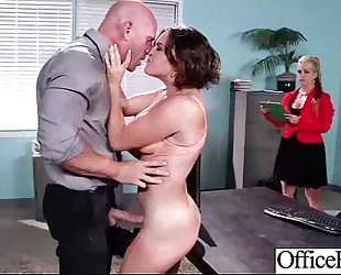 Slut BBC slut (krissy lynn) with large melon titties team-fucked in office clip-24