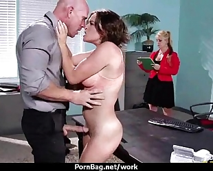 Office assistant getting screwed hard three