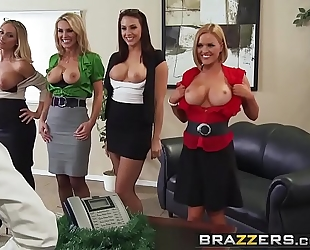 Brazzers.com - large mangos at work - office 4-play christmas edition scene starring chanel preston krissy l