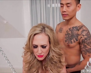 Chained up brandi love is the fuck thrall to a juvenile ramrod